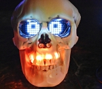 Halloween Project with Skull, Arduino, Blinking LEDs and Scrolling Eyes | Maker, MakerED, MakerSpaces