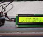 I2C-LCD WEB-TEXT on NodeMCU ESP8266