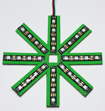 Xmas Star with cardboard and NeoPixels WS2812B