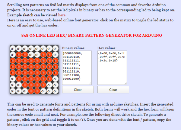 LED MATRIX GENERATOR-CHARACTER-CODE
